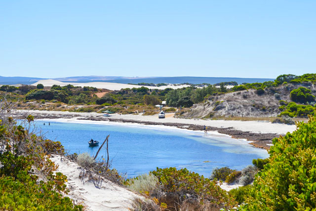 Sandy Cape Recreation area is a popular perth camping spot because of its beautiful beach