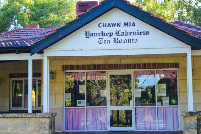 The tea rooms for morning coffee when you are camping at yanchep national park