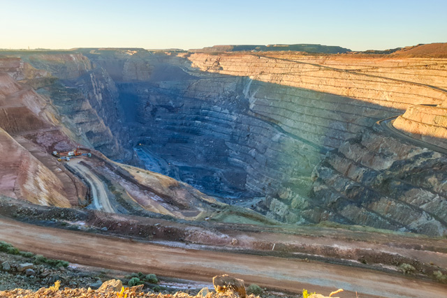 An image of the superpit in Kalgoorlie