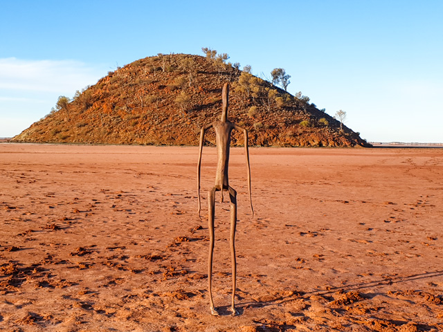 Lake Ballard statue in Menzies