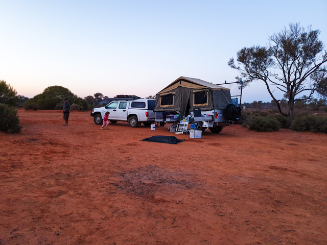 Our camp at Lake Ballard.