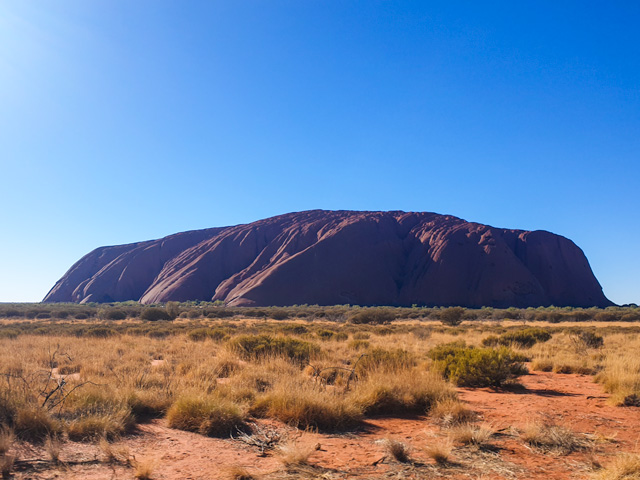 our first sight of Uluru