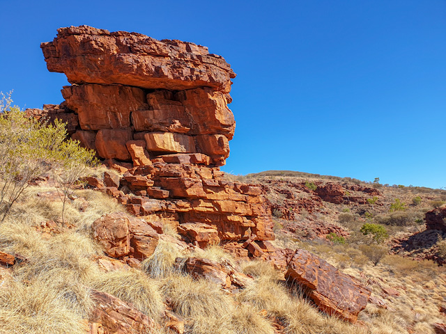 Some of the amazing rock formations on the Trephina Gorge Walk.