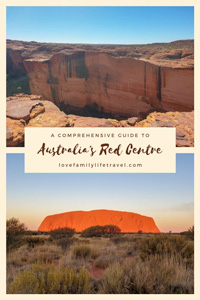 Pinterest image for my guide to the red centre
