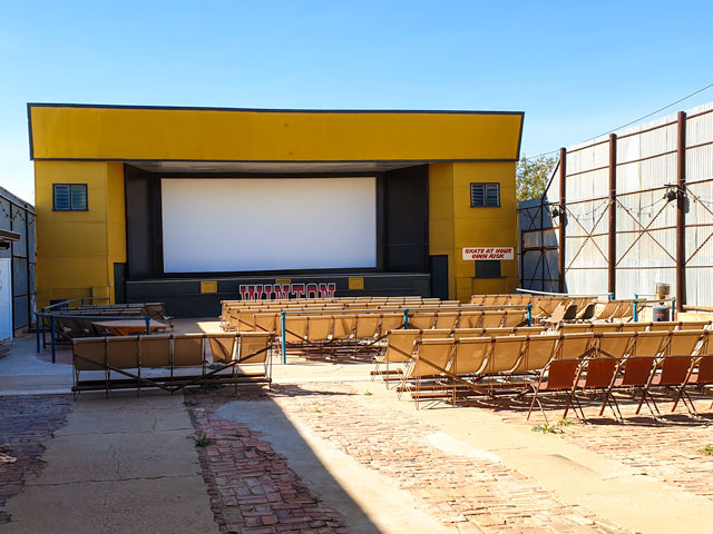 the outdoor cinema in Winton